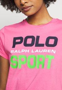 Polo Ralph Lauren - T-shirt con stampa - pink - 4