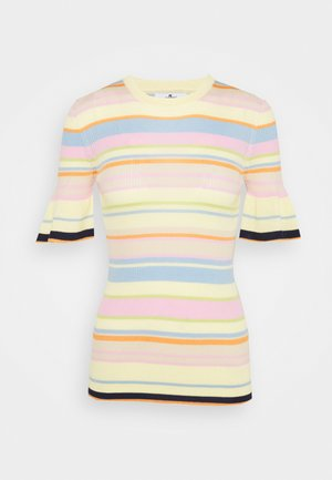 STRIPED - Triko s potiskem - multicolour