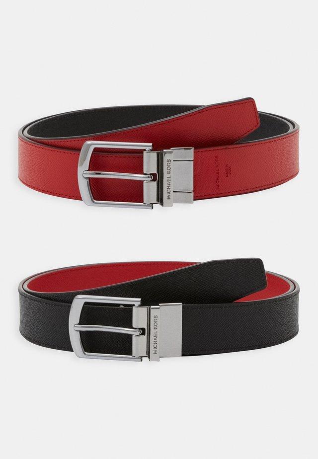 DRESS BELT - Pásek - black/red