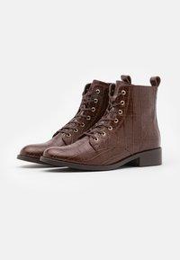 Cosmoparis - FIBI - Šněrovací kotníkové boty - marron - 2