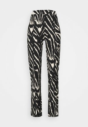 AIRY TROUSERS - Pantalones - white/black