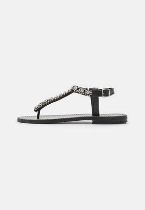 INFRADITO RICAMATO - T-bar sandals - nero
