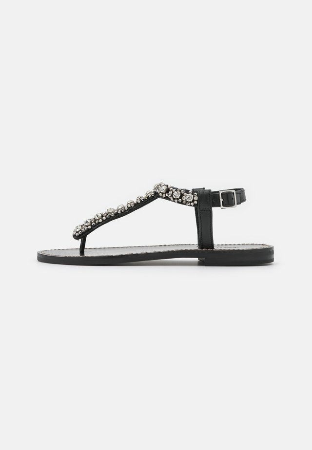 INFRADITO RICAMATO - T-bar sandals - nero