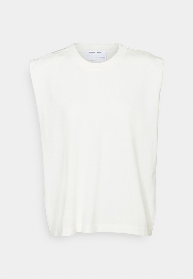 DESIGNERS REMIX - MANDY MUSCLE TEE - Print T-shirt - cream