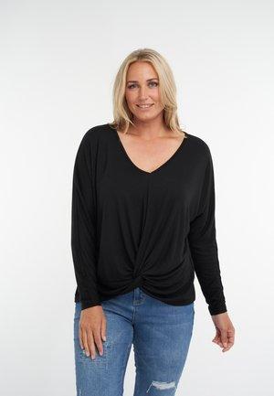 MET KNOOPDETAIL - Long sleeved top - black