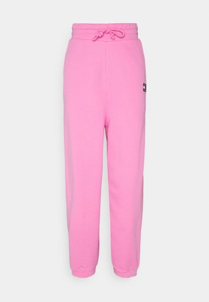 RELAXED BADGE - Tracksuit bottoms - pink daisy
