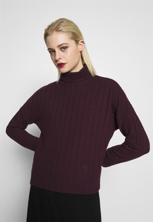 WIDE BRUSHED  - Jumper - dark burgundy