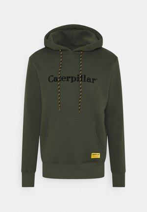 CATERPILLAR EMBROIDERY HOODIE - Sweatshirt - army