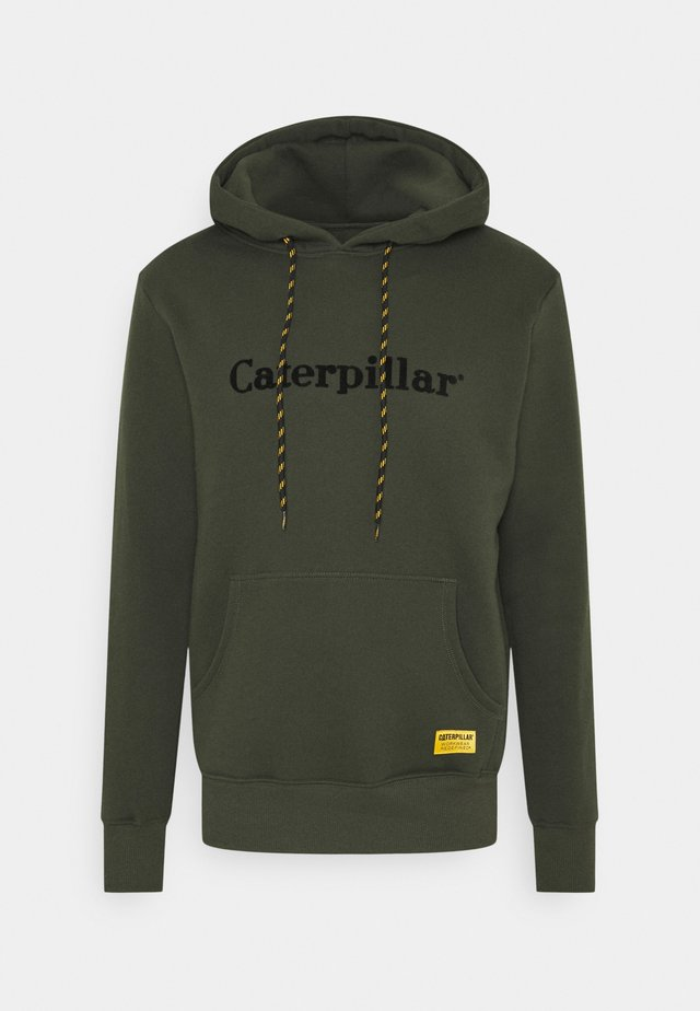 CATERPILLAR EMBROIDERY HOODIE - Felpa - army