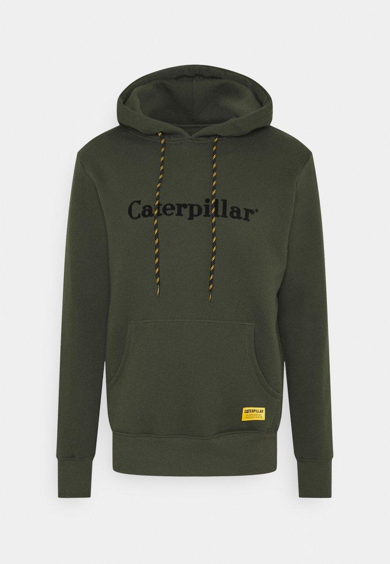 Caterpillar - CATERPILLAR EMBROIDERY HOODIE - Bluza z kapturem - army