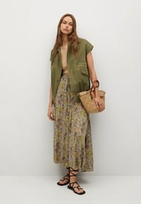 Mango - PALMA - Maxi skirt - green - 1