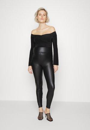 MATERNITY SLINKY BARDOT BODYSU - Bluzka z długim rękawem - black