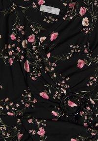 Wallis Petite - BLOSSOM FLORAL WRAP JUMPSUIT - Jumpsuit - black - 2