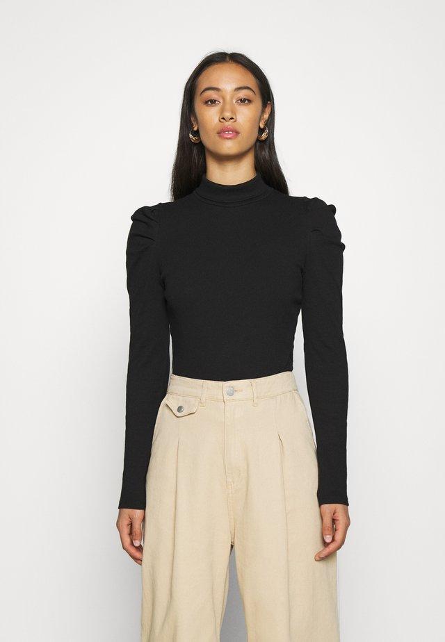 RONJA - Maglietta a manica lunga - black