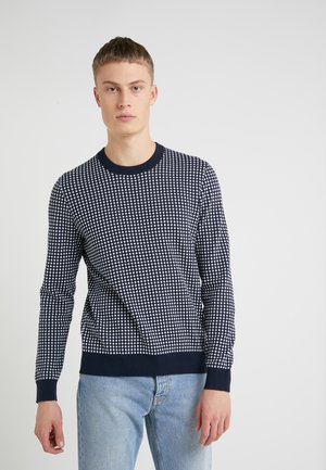 CREW NECK DOTTED PRINT SWEATER - Jumper - midnight