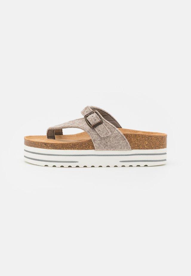 MARINELLA - T-bar sandals - beige