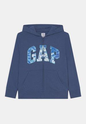 BOYS LOGO - Zip-up sweatshirt - chrome blue