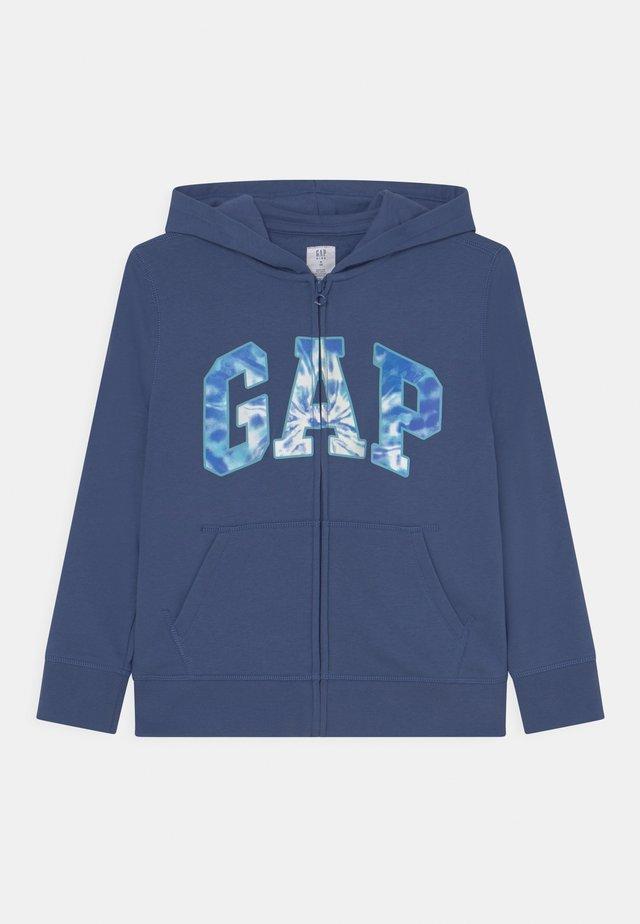 BOYS LOGO - Felpa con zip - chrome blue
