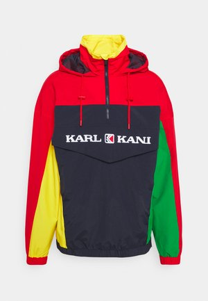 RETRO BLOCK - Windbreaker - red