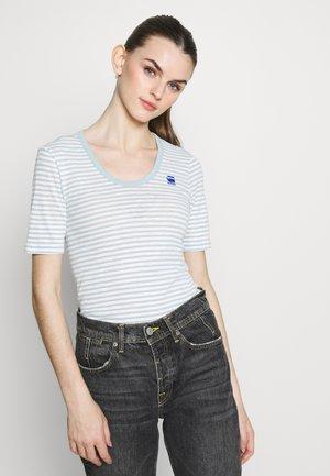 SLIM UNECK - Print T-shirt - siali blue