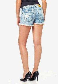 Cipo & Baxx - Denim shorts - iceblue - 2