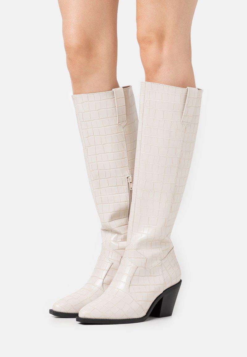 Glamorous Wide Fit - Vysoká obuv - bone