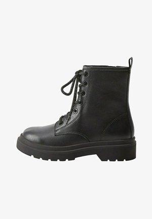 MARTINA - Lace-up ankle boots - černá
