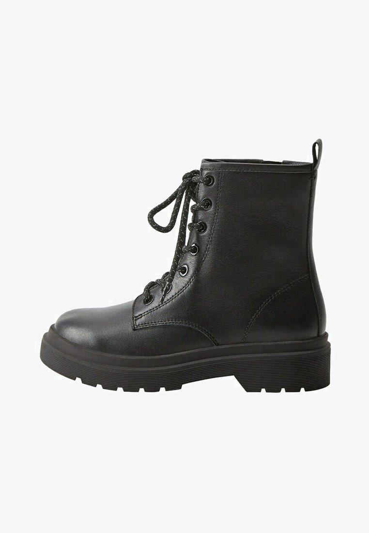 Mango - MARTINA - Lace-up ankle boots - černá