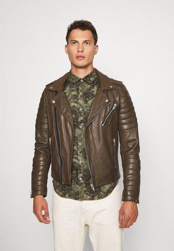 HIPSTER  - Kožená bunda - khaki
