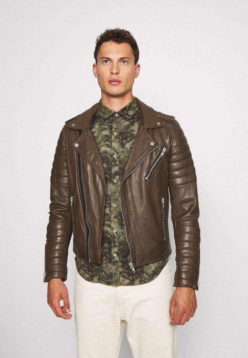Serge Pariente - HIPSTER  - Leather jacket - khaki