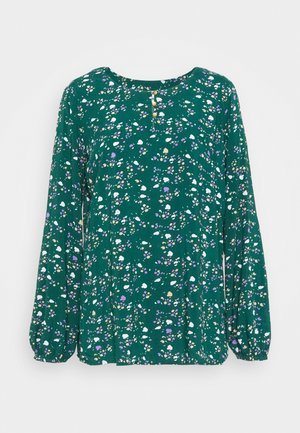 BLOUSE - Blouse - dark teal green