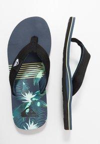 Quiksilver - MOLOKAI LAYBACK - Pool shoes - black/blue/green - 1