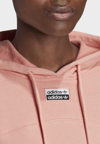 adidas Originals - R.Y.V. CROPPED HOODIE - Jersey con capucha - pink - 7