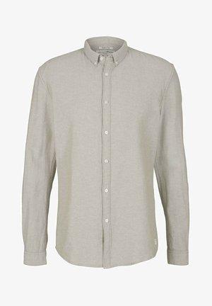 Camicia - olive off white twill