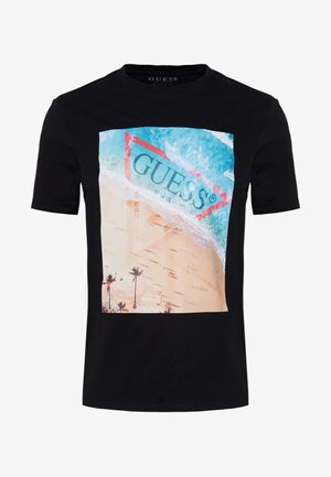 WATERLINE TEE - Print T-shirt - jet black