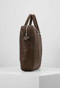 Pier One - LEATHER - Laptop bag - dark brown - 3