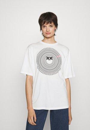 ACQUALAGNA - Print T-shirt - ivory