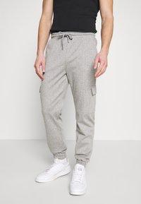 Brooklyn Supply Co. - PINSTRIPE CARGO - Tracksuit bottoms - grey - 0