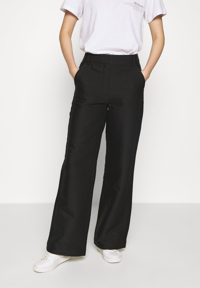 DESIGNERS REMIX - HAILEY FLARE - Trousers - black