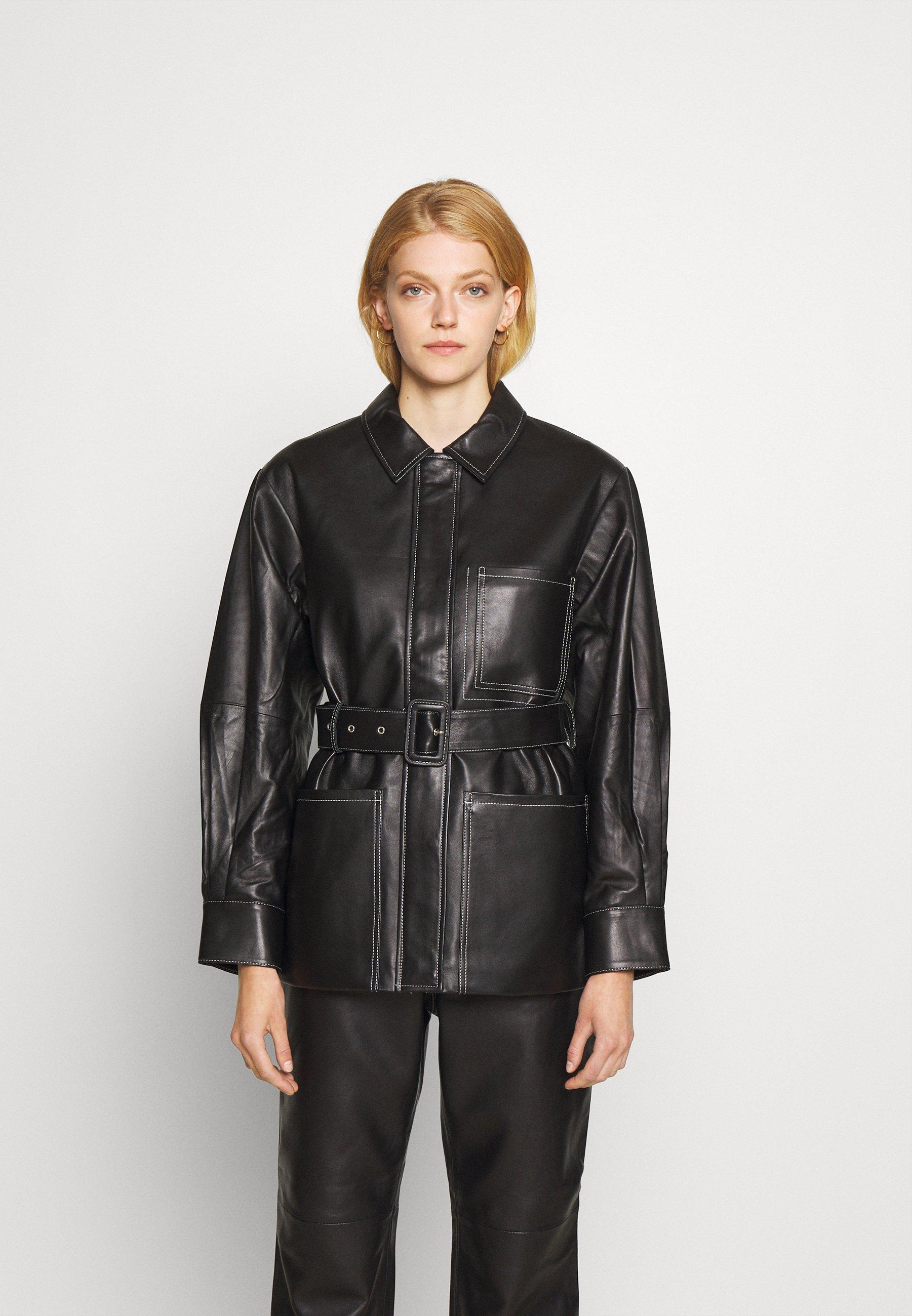 Femme BELTED JACKET - Veste en cuir