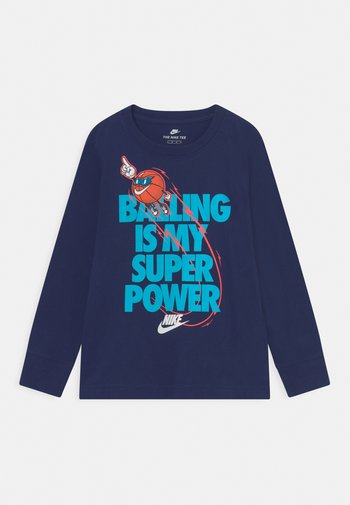 BALLING IS MY SUPER POWER - Long sleeved top - blue void