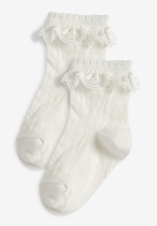 Kinder 2 PACK LACE RUFFLE - Socken