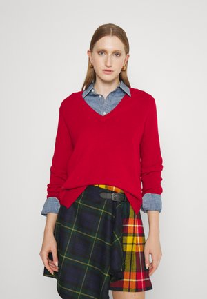 Pullover - carriage red