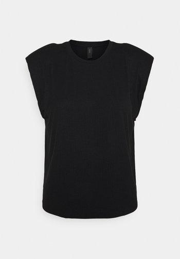 YASELLE PADDED SHOULDER - Top - black