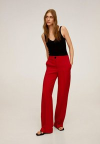 Mango - SIMON-I - Trousers - rood - 1