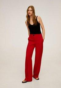 Mango - SIMON-I - Pantalon classique - rood - 1