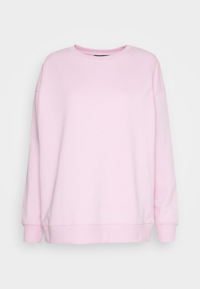 Sweatshirt - bright pink