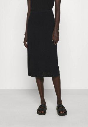 HONOR SKIRT - Pouzdrová sukně - black