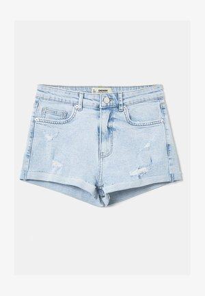DESTROY - Denim shorts - blu
