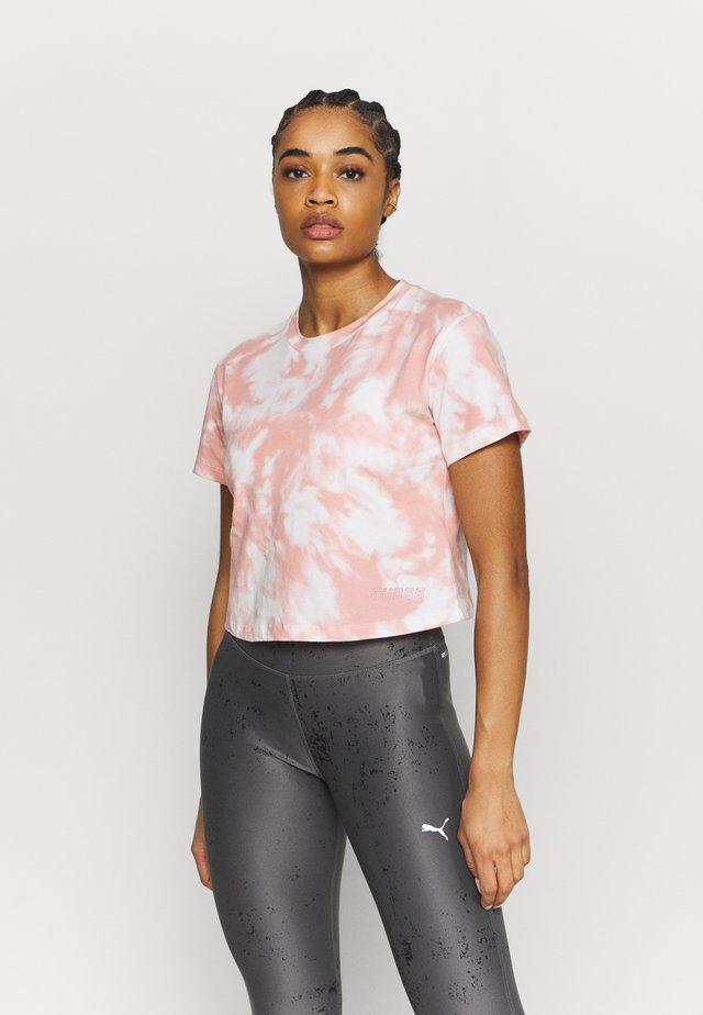 CROP MARBLE - Print T-shirt - light pink
